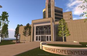 ASU Virtual Campus in Second Life (Dean Ellis Library)
